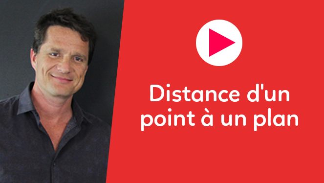 Distance d'un point à un plan