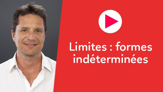 Limites : formes indéterminées
